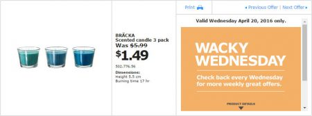 IKEA - Calgary Wacky Wednesday Deal of the Day (Apr 20) C
