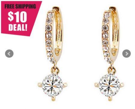 Swarovski Element Looped Crystal Earrings
