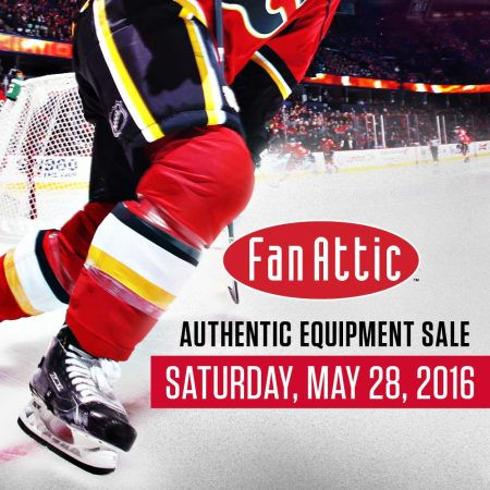 Calgary Flames 2016 Authentic Equipment Sale (May 28, 8am-1pm)
