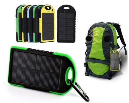 Dual USB 10000 mAh Solar Powerbank