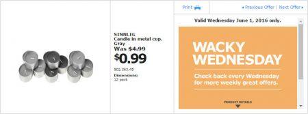 IKEA - Calgary Wacky Wednesday Deal of the Day (June 1) C
