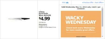 IKEA - Calgary Wacky Wednesday Deal of the Day (May 11) B