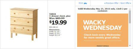 IKEA - Calgary Wacky Wednesday Deal of the Day (May 25) B