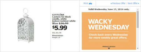 IKEA - Calgary Wacky Wednesday Deal of the Day (June 15) A