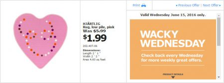 IKEA - Calgary Wacky Wednesday Deal of the Day (June 15) B