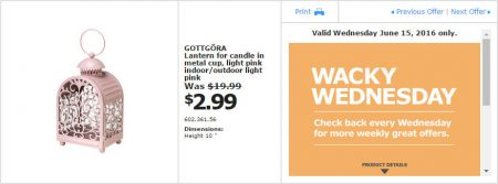 IKEA - Calgary Wacky Wednesday Deal of the Day (June 15) C
