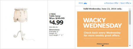 IKEA - Calgary Wacky Wednesday Deal of the Day (June 22) A