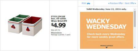 IKEA - Calgary Wacky Wednesday Deal of the Day (June 22) B