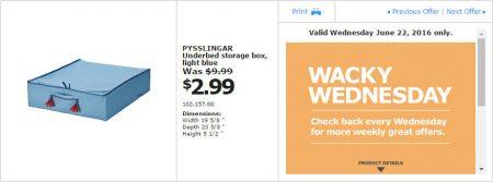 IKEA - Calgary Wacky Wednesday Deal of the Day (June 22) C