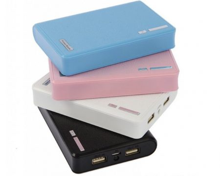 Sleek Dual USB Portable Powerbank