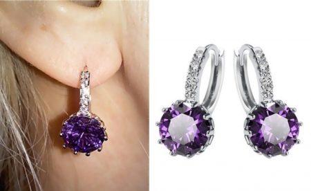 Austrian Crystal Hoop Earrings