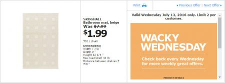 IKEA - Calgary Wacky Wednesday Deal of the Day (July 13) B