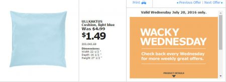 IKEA - Calgary Wacky Wednesday Deal of the Day (July 20) A
