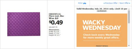IKEA - Calgary Wacky Wednesday Deal of the Day (July 20) C