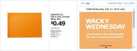 IKEA - Calgary Wacky Wednesday Deal of the Day (July 27) A