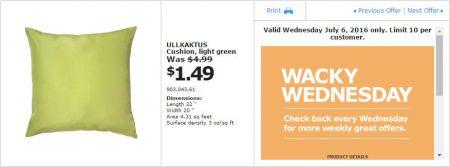 IKEA - Calgary Wacky Wednesday Deal of the Day (July 6) A