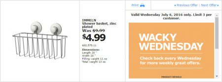 IKEA - Calgary Wacky Wednesday Deal of the Day (July 6) C