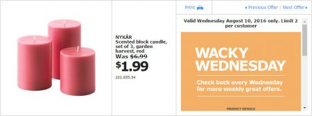 IKEA - Calgary Wacky Wednesday Deal of the Day (Aug 10) B