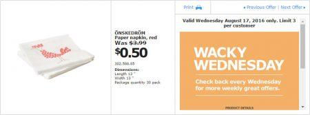 IKEA - Calgary Wacky Wednesday Deal of the Day (Aug 17) A