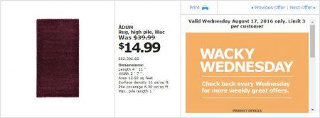 IKEA - Calgary Wacky Wednesday Deal of the Day (Aug 17) B