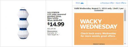 IKEA - Calgary Wacky Wednesday Deal of the Day (Aug 3) A