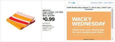 IKEA - Calgary Wacky Wednesday Deal of the Day (Aug 3) B