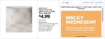 IKEA - Calgary Wacky Wednesday Deal of the Day (Aug 3) C