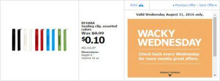 IKEA - Calgary Wacky Wednesday Deal of the Day (Aug 31) B