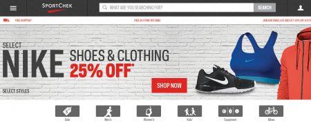 lo sport chek: il 25 per cento di selezionare le scarpe nike e abbigliamento (fino a 17 apr.