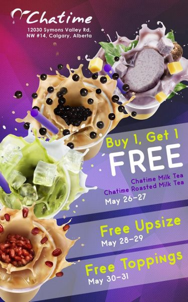 Chatime Creekside: Grand Opening - Buy 1, Get 1 Free (May 26